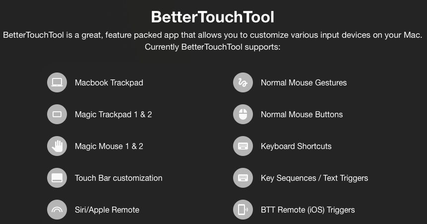 Better Touch Tool