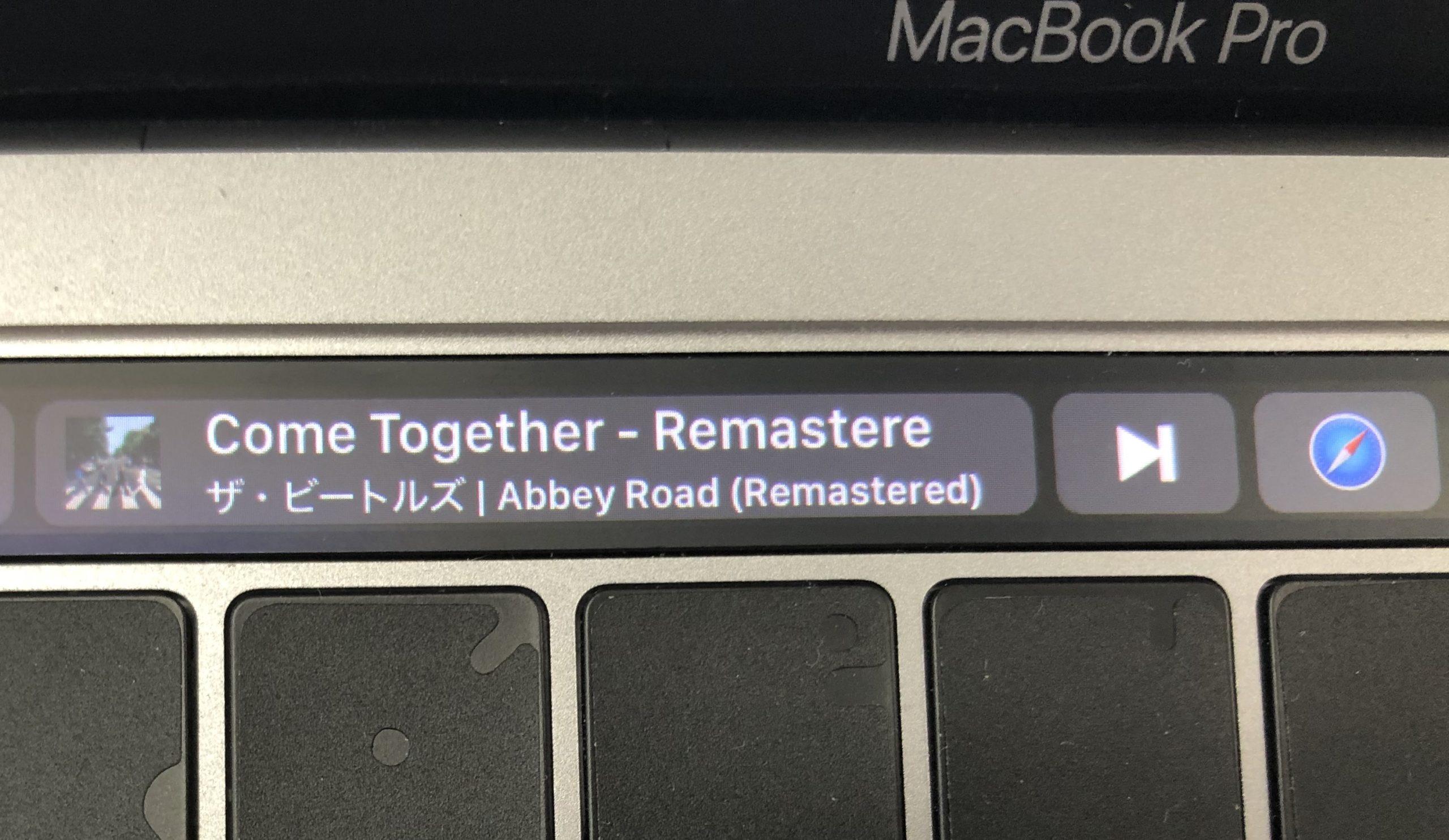 Touch Barで音楽を操作