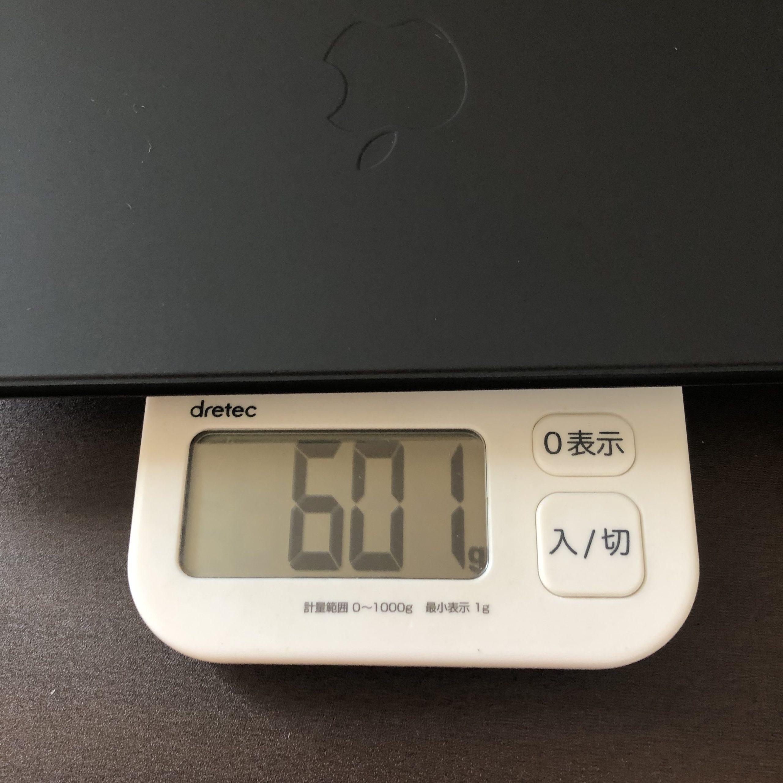 Magic Keyboardの重量