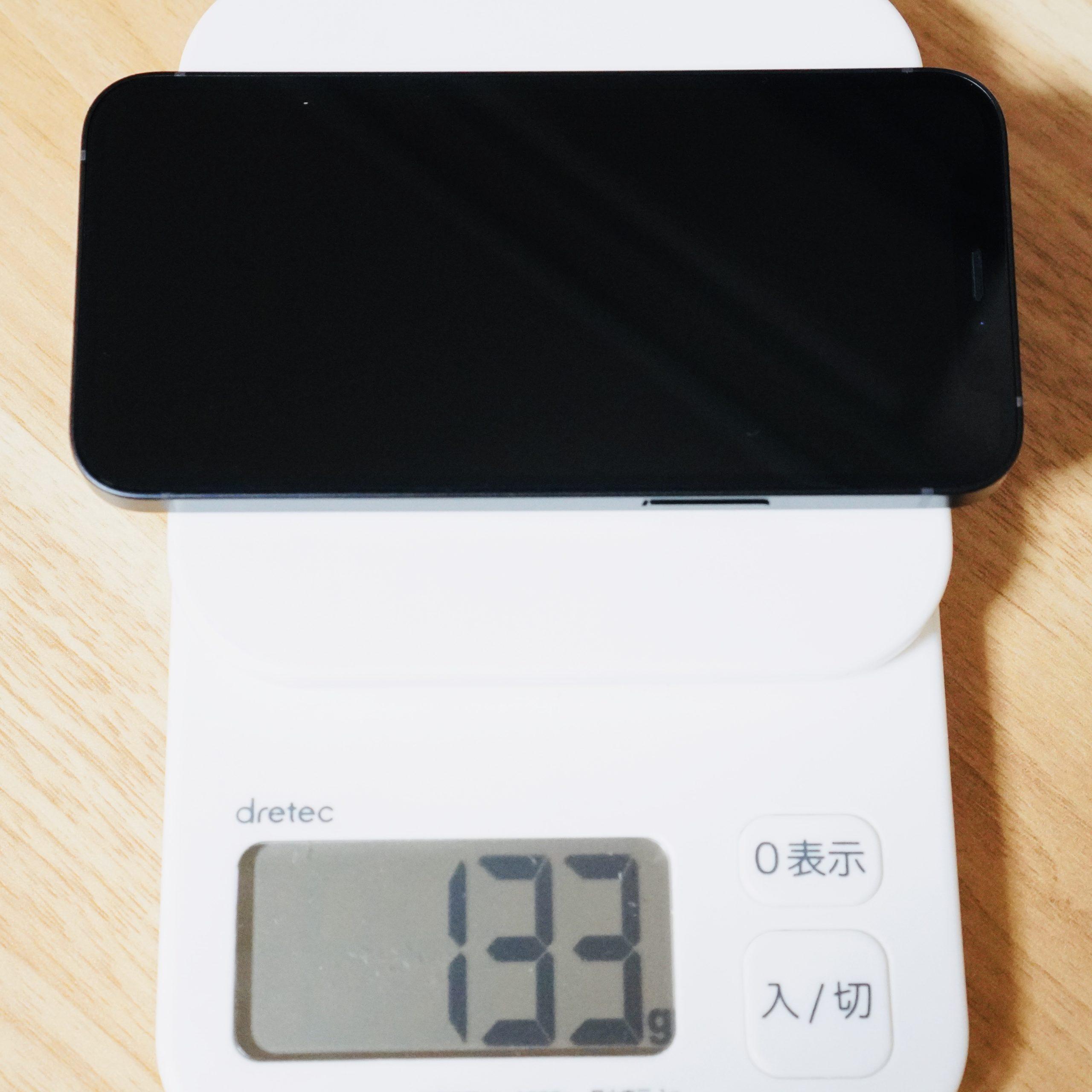 iPhone12mini-衝撃の軽さ