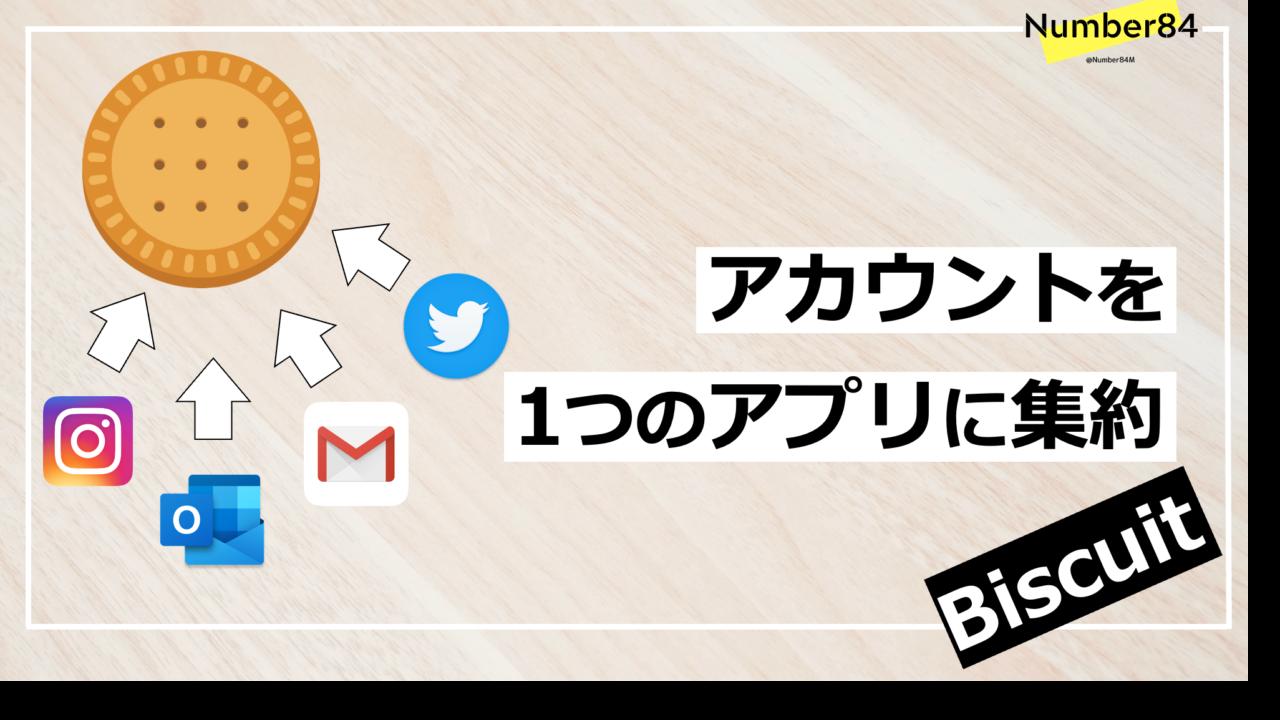 Webサービスをひとつに集約できるアプリ【Biscuit】