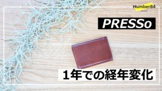 PREESo-1年での経年変化