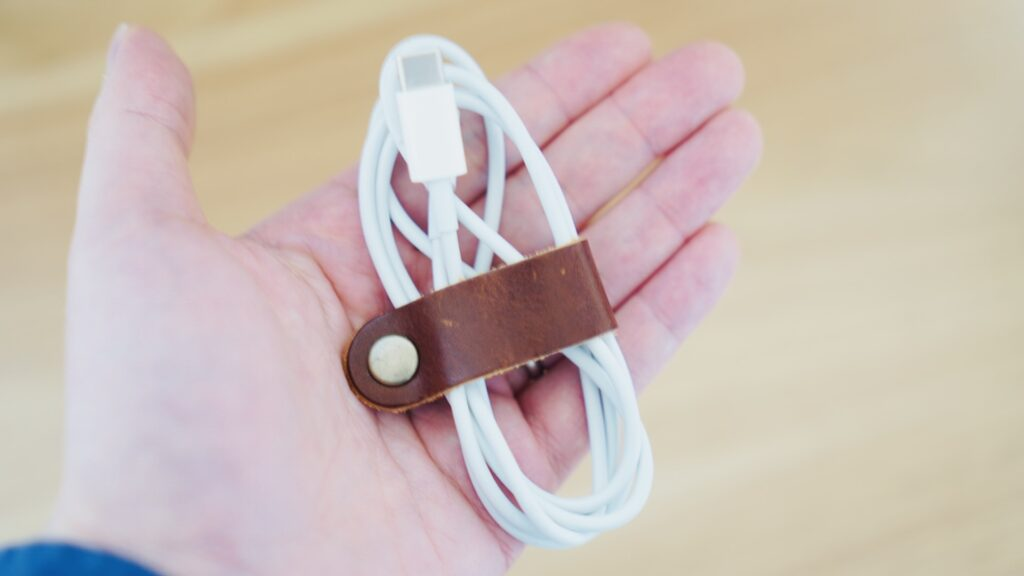 Aging Leather Clip