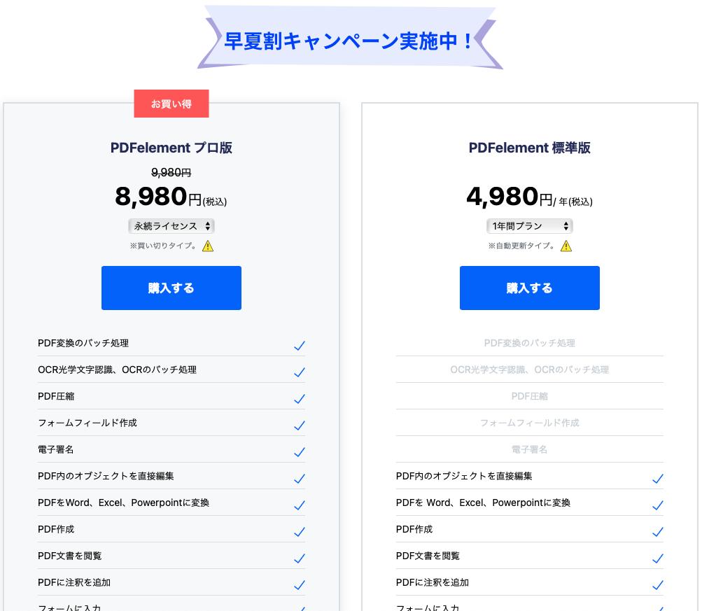 PDFエレメント永続ライセンス