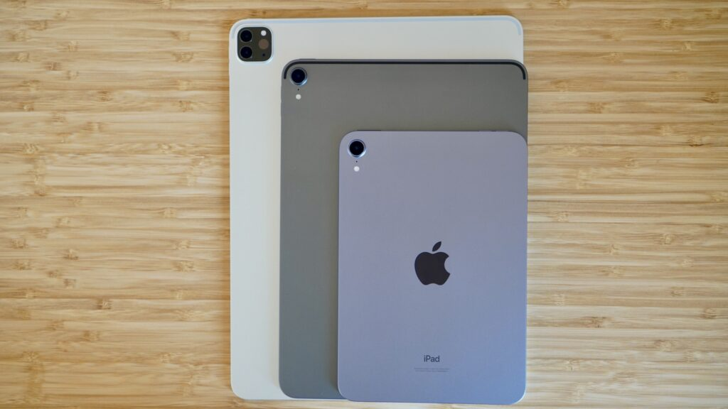iPadのサイズ比較